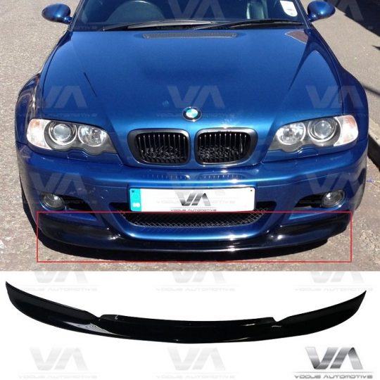 BMW 3 SERIES E46 M3 CSL FRONT LIP SPLITTER