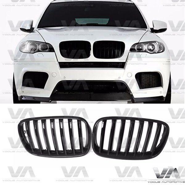 BMW X Series E70 E71 X5 X6 GLOSS BLACK Single Kidney Grilles
