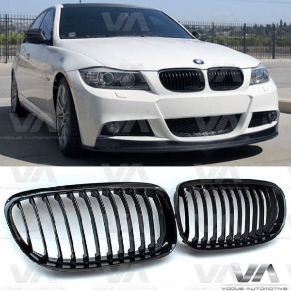 BMW 3 Series E90 E91 GLOSS BLACK Single Kidney Grilles
