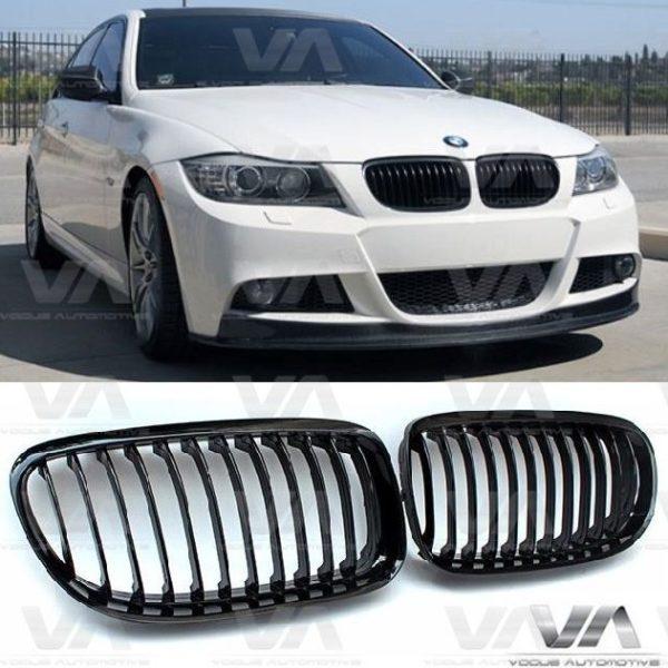 BMW 3 Series E90 E91 GLOSS BLACK Single Kidney Grilles