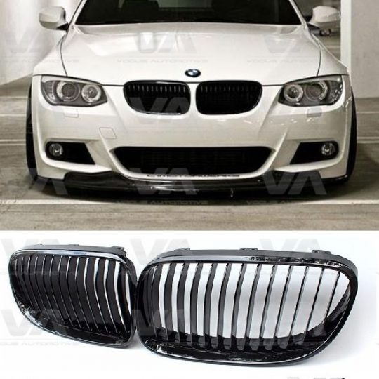 BMW 3 Series E92 E93 LCI GLOSS BLACK Single Kidney Grilles