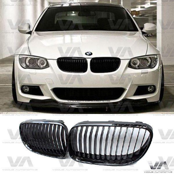 BMW 3 Series E92 E93 LCI GLOSS BLACK Single Kidney Grilles
