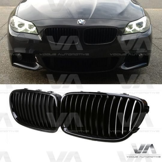 BMW 5 SERIES F10 F11 ABS GLOSS BLACK KIDNEY GRILLES