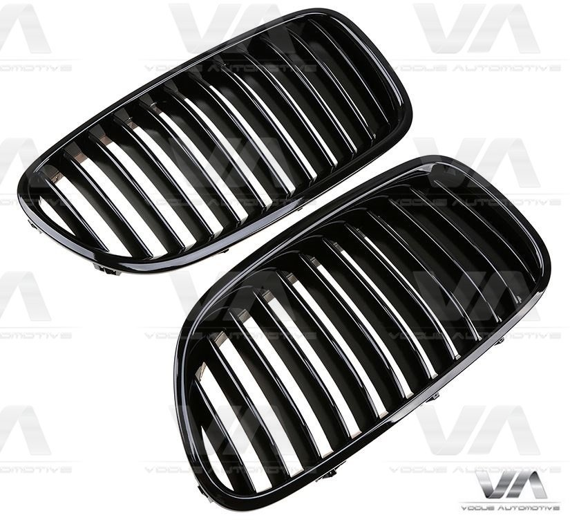 BMW 5 Series F10 F11 GLOSS BLACK Single Kidney Grilles