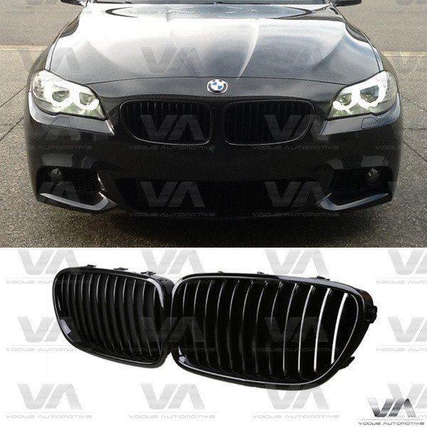 BMW 5 Series F10 F11 GLOSS BLACK Single Kidney Grilles