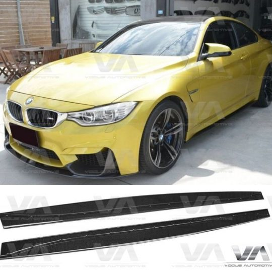 BMW 3 4 SERIES F80 F82 M3 M4 3D STYLE CARBON FIBER SIDE SKIRTS