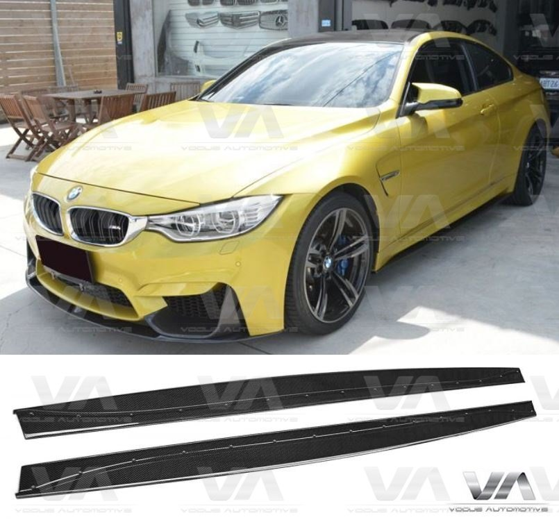 BMW M3 M4 F80 F82 F83 3D Style CARBON FIBER Side Skirts