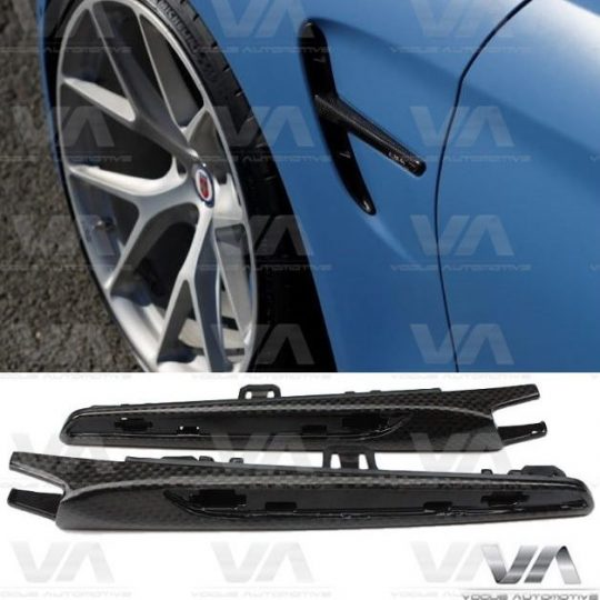 BMW 3 4 SERIES F80 F82 M3 M4 CARBON FIBER WINGS SIDE FENDER TRIMS