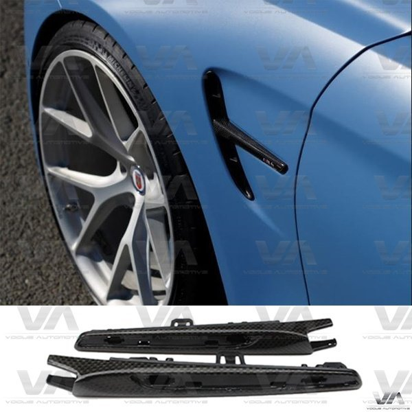 BMW M3 M4 F80 F82 F83 CARBON FIBER Side Vents Fender Trims