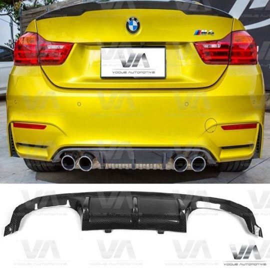 BMW 3 4 SERIES F80 F82 M3 M4 PERFORMANCE STYLE CARBON FIBER REAR DIFFUSER