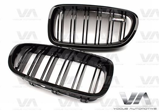 BMW 5 Series F10 F11 M5 GLOSS BLACK Double Kidney Grilles