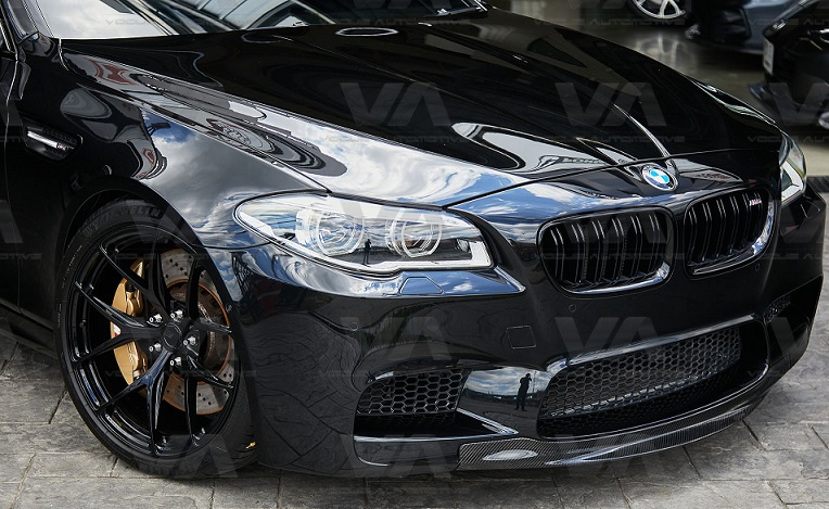 BMW 5 Series F10 M5 CARBON FIBER RKP Style Front Splitter