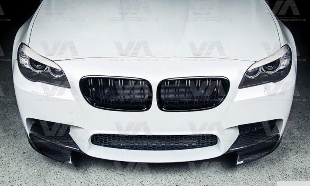 BMW 5 Series F10 M5 CARBON FIBER Front Corner Splitters