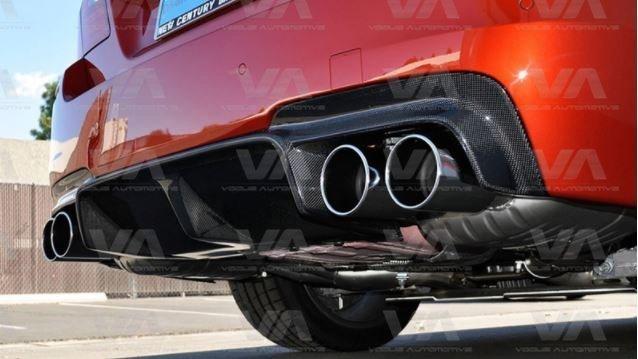 BMW 5 Series F10 DTM CARBON FIBER 1 Fin Rear Diffuser