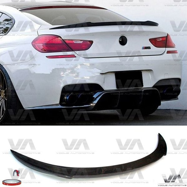 BMW 6 Series F12 F13 M6 CARBON FIBER V Style Boot Spoiler