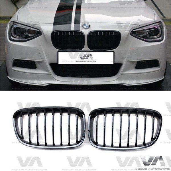 BMW 1 Series F20 F21 PRE LCI GLOSS BLACK Single Kidney Grilles