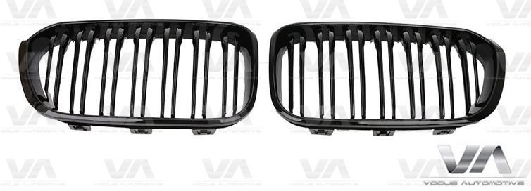 BMW 1 Series F20 F21 M Style LCI GLOSS BLACK Double Kidney Grilles