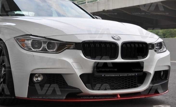 BMW 3 Series F30 F31 GLOSS BLACK Double Kidney Grilles