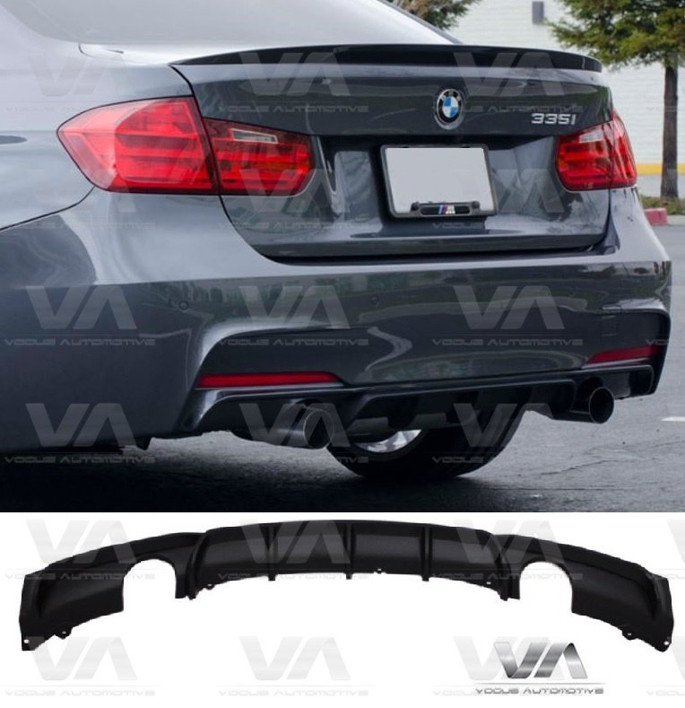 BMW 3 Series F30 F31 M Sport PERFORMANCE Style Dual Exhaust Rear Diffuser