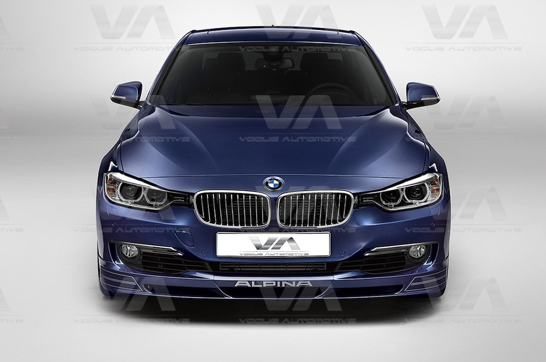 bmw 3 series f30 31 alpina front lip spoiler splitter. Black Bedroom Furniture Sets. Home Design Ideas