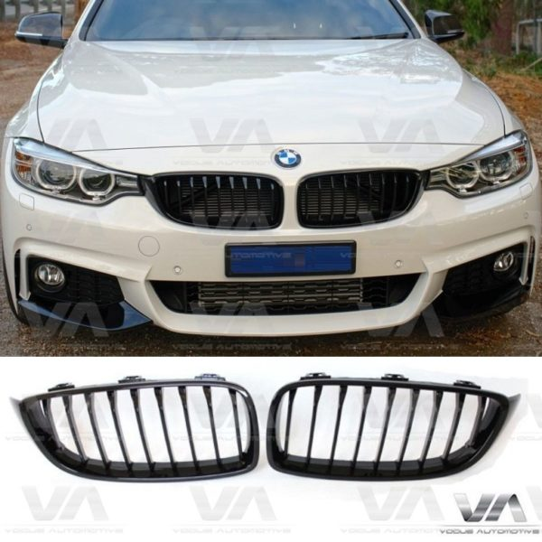 BMW 4 Series F32 F33 F36 F82 F83 GLOSS BLACK Kidney Grilles