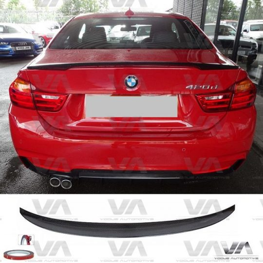 BMW 4 Series F32 PERFORMANCE Style CARBON FIBER Boot Spoiler