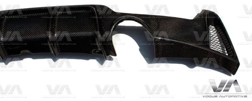 BMW 4 Series F32 F33 F36 PERFORMANCE Style CARBON FIBER Dual Exhaust Rear Diffuser