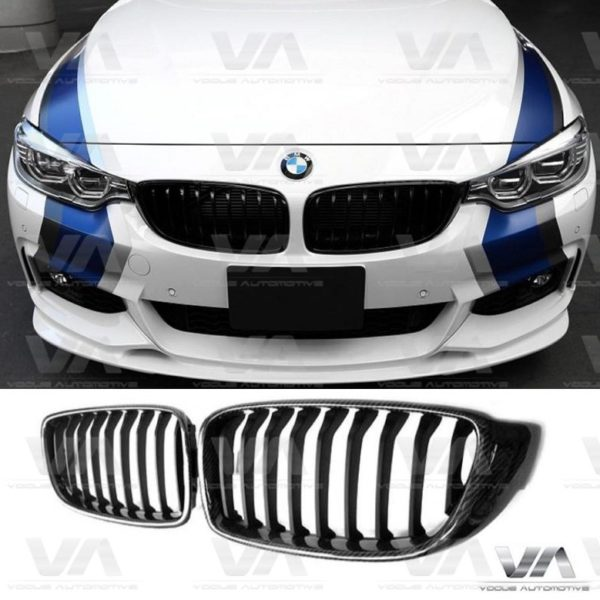 BMW 4 Series F32 F33 F82 F83 CARBON FIBER Single Kidney Grilles