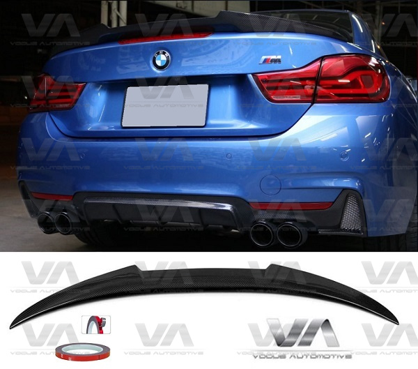 BMW 4 Series F33 F83 M4 Type CARBON FIBER Boot Spoiler
