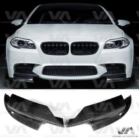 BMW 5 SERIES F10 M5 CARBON FIBER FRONT BUMPER CORNER SPLITTERS