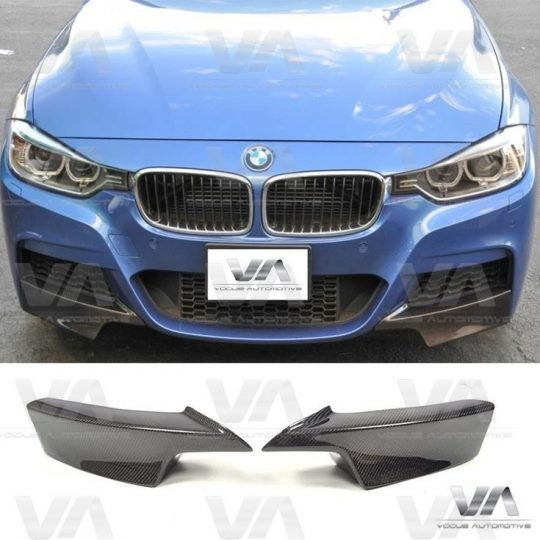 BMW 3 Series F30 F31 M Sport CARBON FIBER Front Corner Splitters