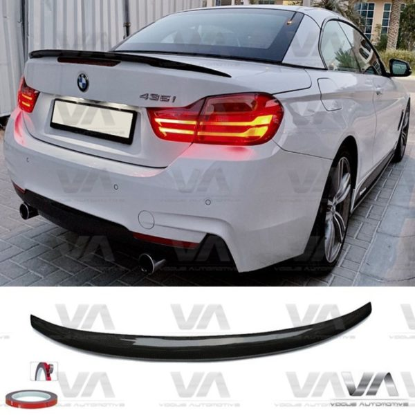 BMW 4 Series F33 F83 M4 PERFORMANCE Style CARBON FIBER Boot Spoiler