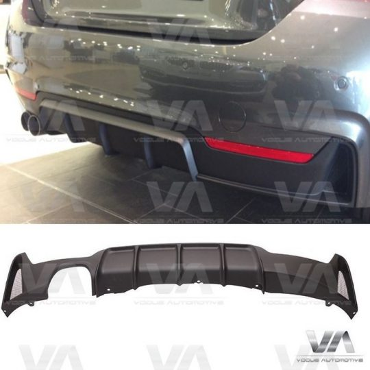 BMW 4 SERIES F32 F33 F36 M SPORT PERFORMANCE DOUBLE EXHAUST REAR DIFFUSER