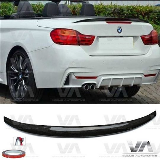 BMW 4 SERIES F33 F83 M4 PERFORMANCE CARBON FIBER BOOT SPOILER