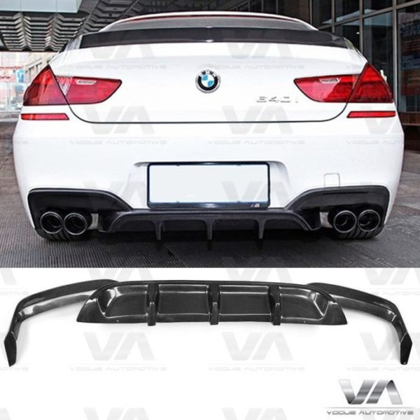 BMW 6 Series F06 F12 F13 M6 CARBON FIBER Quad Exhaust Rear Diffuser