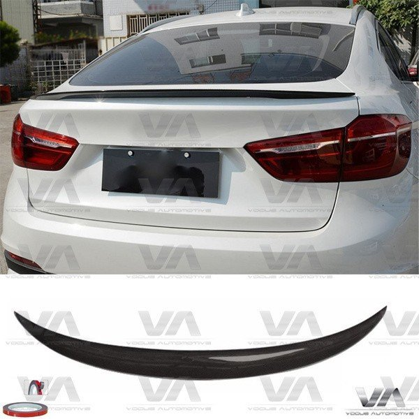 BMW X Series F16 X6 PERFORMANCE Style CARBON FIBER Boot Spoiler