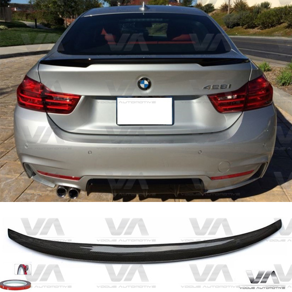 BMW 4 Series F36 PERFORMANCE Style CARBON FIBER Boot Spoiler