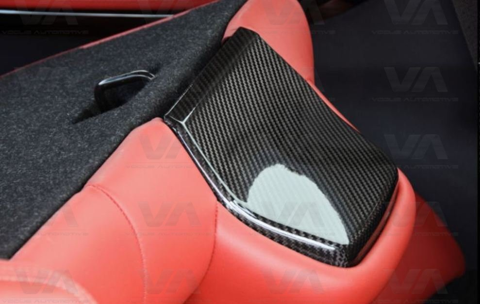 BMW M3 M4 F80 F82 F83 CARBON FIBER Back Seat Trim Covers