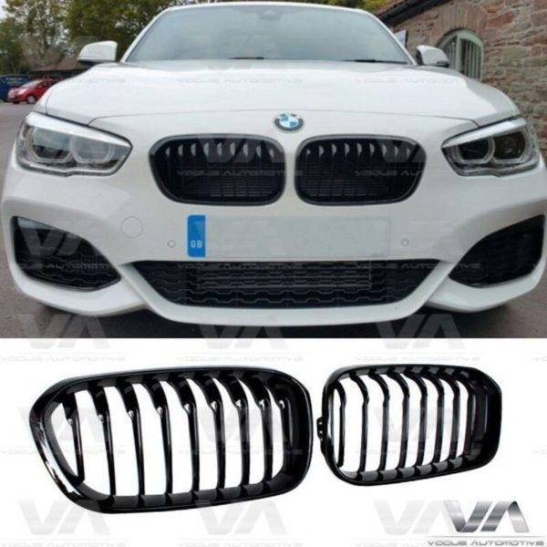 BMW 1 Series F20 F21 M Style LCI GLOSS BLACK Single Kidney Grilles