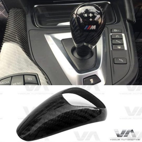 BMW 3 4 SERIES F80 F82 F83 M3 M4 CARBON FIBER GEAR KNOB TRIM RHD