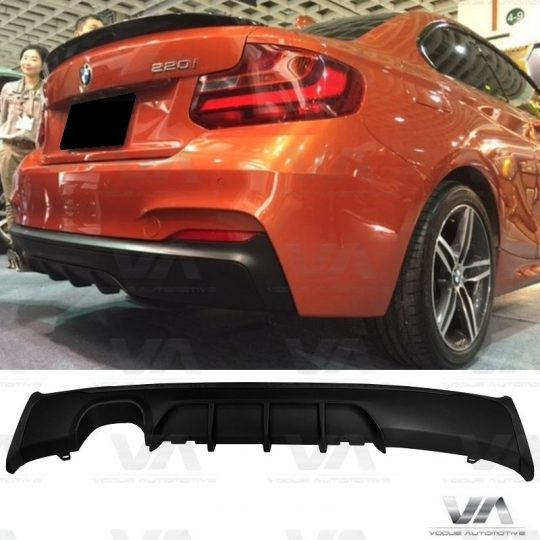 BMW 2 Series F22 F23 M Sport PERFORMANCE Style Twin Exhaust Rear Diffuser