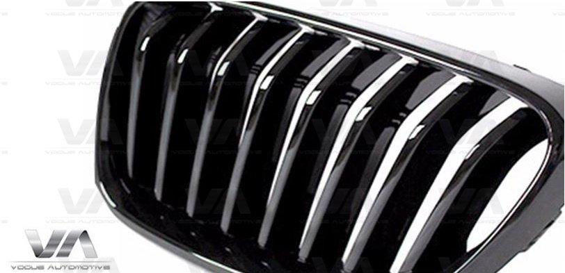 BMW 2 Series F22 F23 F87 M2 GLOSS BLACK Single Kidney Grilles