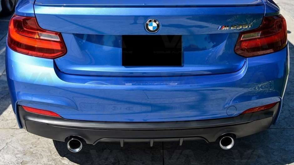 BMW 2 Series F22 F23 M Sport PERFORMANCE Style Dual Exhaust Rear Diffuser