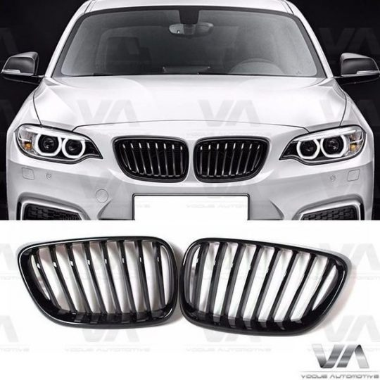 BMW 2 SERIES F22 F23 F87 M2 GLOSS BLACK KIDNEY GRILL GRILLE