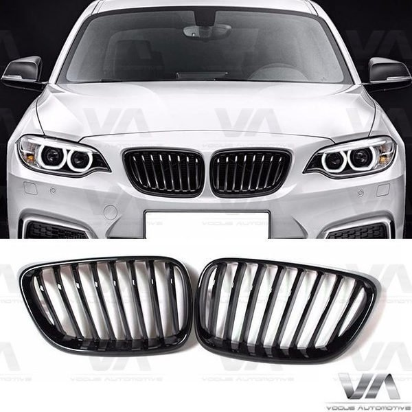 BMW 2 Series F22 F23 F87 M2 GLOSS BLACK Single Kidney Grilles