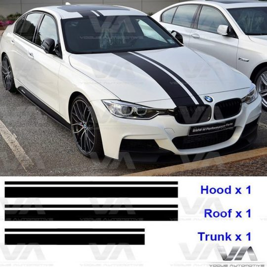 BMW 1 3 5 F10 F20 F30 PERFORMANCE STRIPES BONNET ROOF TAILGATE STICKERS DECALS