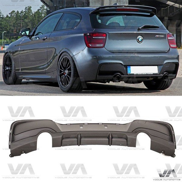 BMW 1 Series F20 F21 PRE LCI M Sport PERFORMANCE Style Dual Exhaust Rear Diffuser