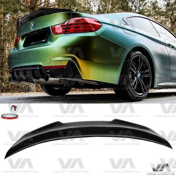 BMW 4 Series F32 PSM Style CARBON FIBER Boot Spoiler