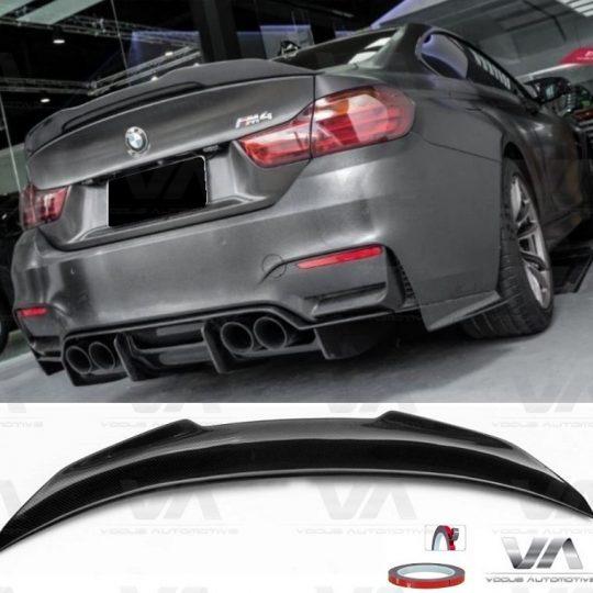 BMW 4 Series M4 F82 PSM Style CARBON FIBER Boot Spoiler