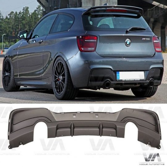 BMW 1 Series F20 F21 M Sport PERFORMANCE Style Dual Exhaust Rear Diffuser
